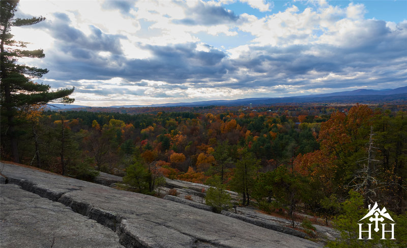Enjoy this view of the Catskills from Table Rocks.