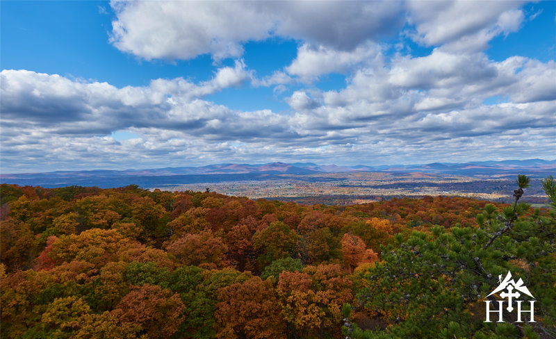 Vibrant leaves grace the view from the northern tip.