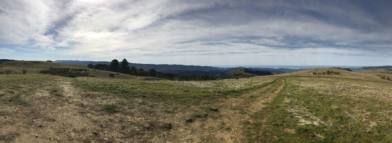 Enjoy this view from the summit of Borel Hill looking west.