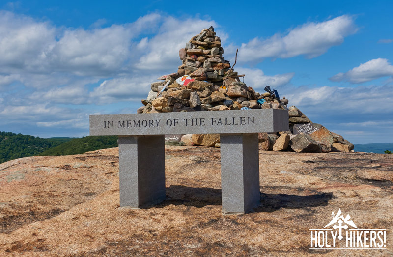 These huge stones were carried up the torne by veterans in memory of their fallen comrades.