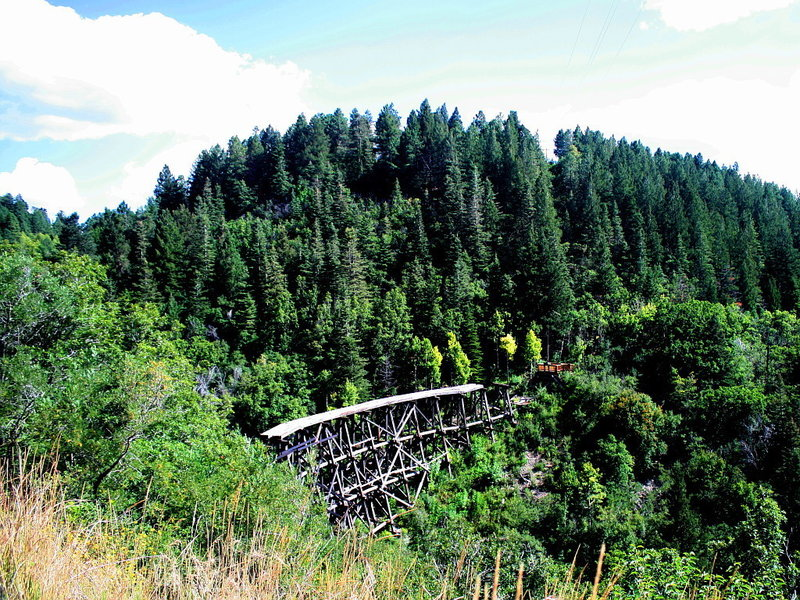 Enjoy this view of the Mexican Canyon Railroad Trestle from the road overlook.