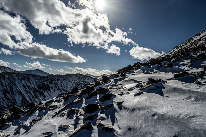 Bask in the gorgeous views of North Star Mountain from the ridge on Quandary Peak.