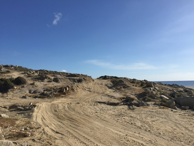 Dusty trails are what you'll find on Cabo Este.