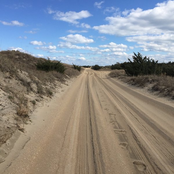 The sand can get deep on this road. Look out for 4x4's heading out to do some fishing from the ramps.