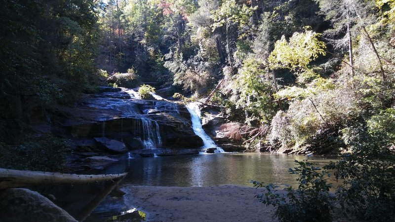 Panther Creek Falls cascades serenely through Chattahoochee National Forest.