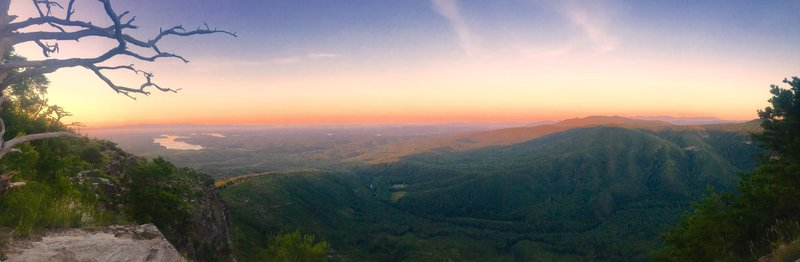 I awoke to one of the most beautiful views the first morning of our hike. I sat in the hammock and took it all in as I watched the sun rise over the horizon!