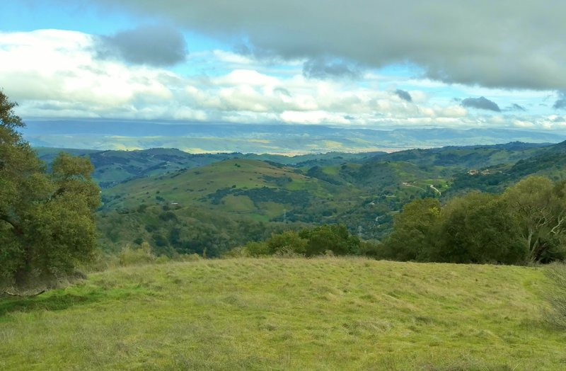 Enjoy this view of the countryside south of San Jose from the top of Church Hill, the site of the miners' old English Camp Church.