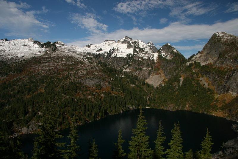 Enjoy this stellar view before descending to Thornton Lake.