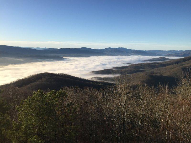 Enjoy phenomenal views from the fire tower atop Pinnacle Mountain.