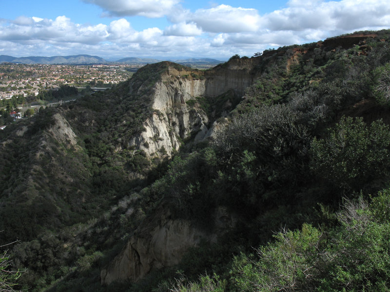 This cliff is off to the northeast with Clews Ranch behind it.