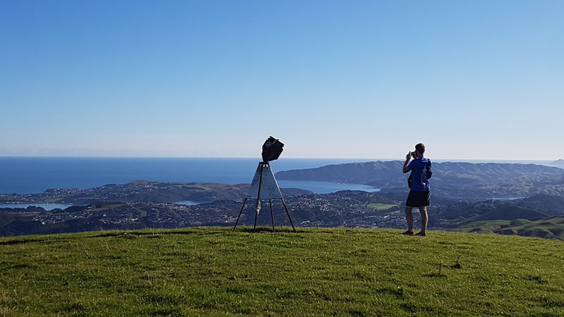 View from Round Knob out to the Northern bays of Porirua abnd the Pauatahanui Inlet.