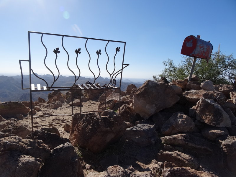 Picket Post Summit offers a pretty unique spot to sit and enjoy the view.