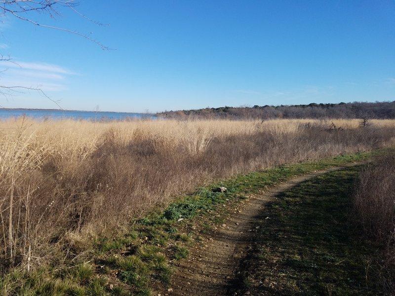 Enjoy this pleasant view as the trail nears the lake.