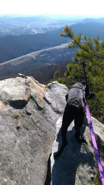 Enjoy a gorgeous view off the ridge.