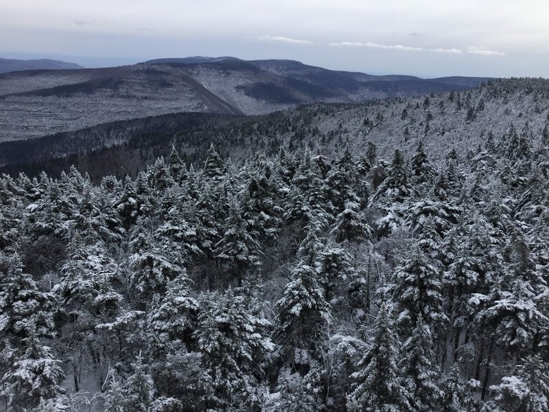 Enjoy spectacular views of the Catskills from the Hunter Mountain Fire Tower.