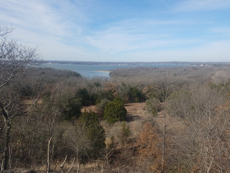 The prize for taking a quarter-mile journey along the Overlook Trail is a spectacular view across Eagle Mountain Lake.