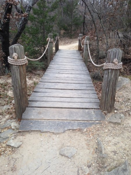 A sturdy bridge aids your passage along the Northwest Trail at Eagle Mountain Park.