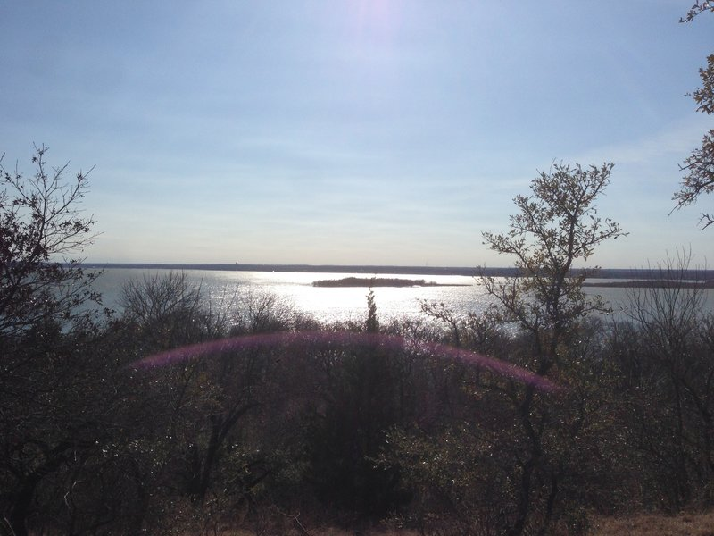 Enjoy this west-southwest view of Pelican Island from the Shoreline Trail.