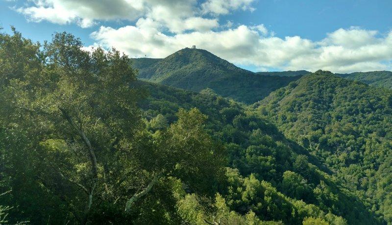 Enjoy the first views of Mt. Umunhum right near the Woods Trail trailhead.