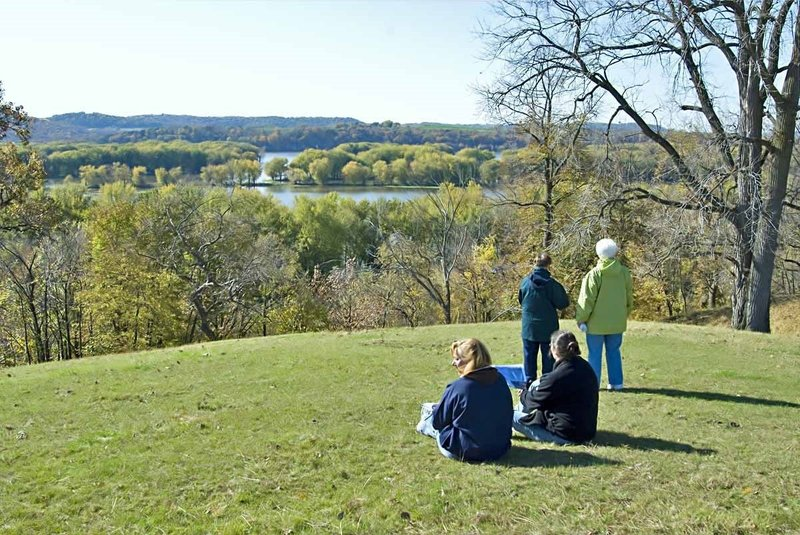 The Mississippi River Overlook is a beautiful spot to be in the fall.