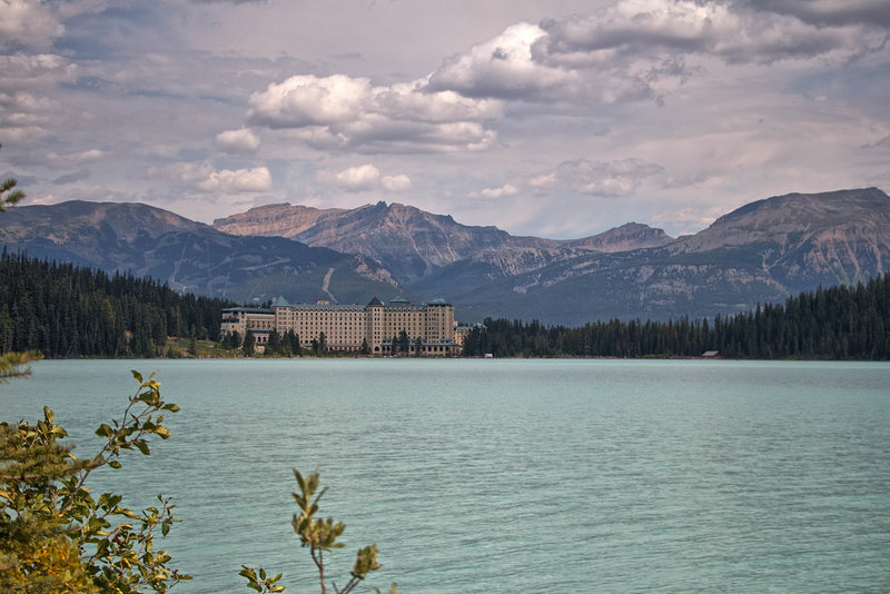 The Fairmont Chateau at Lake Louise offers spectacular views of the lake right from the building.