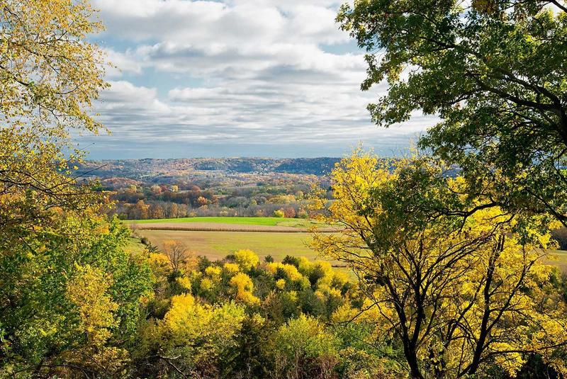 Cooke Overlook offers spectacular views as the trees erupt in their warm fall colors.