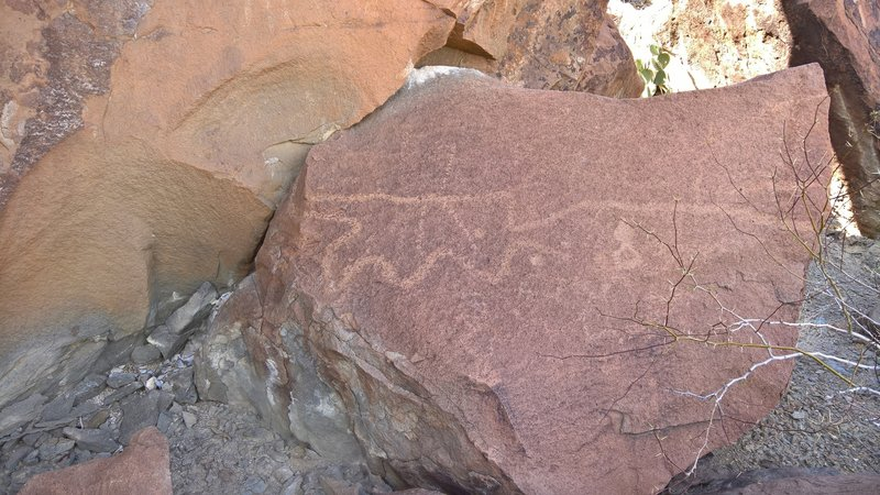 Petroglyphs are numerous in the rocky area above Indian Head.
