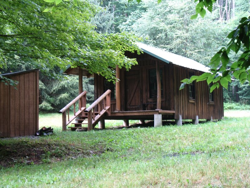 Depending on the season, enjoy a snack or warm up in this warming hut in the North Woods Trail System.