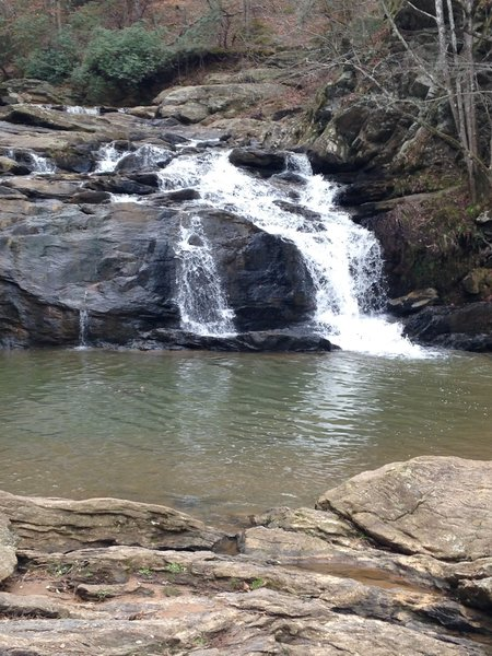 The small falls at Cochran Mill Park are quite scenic.