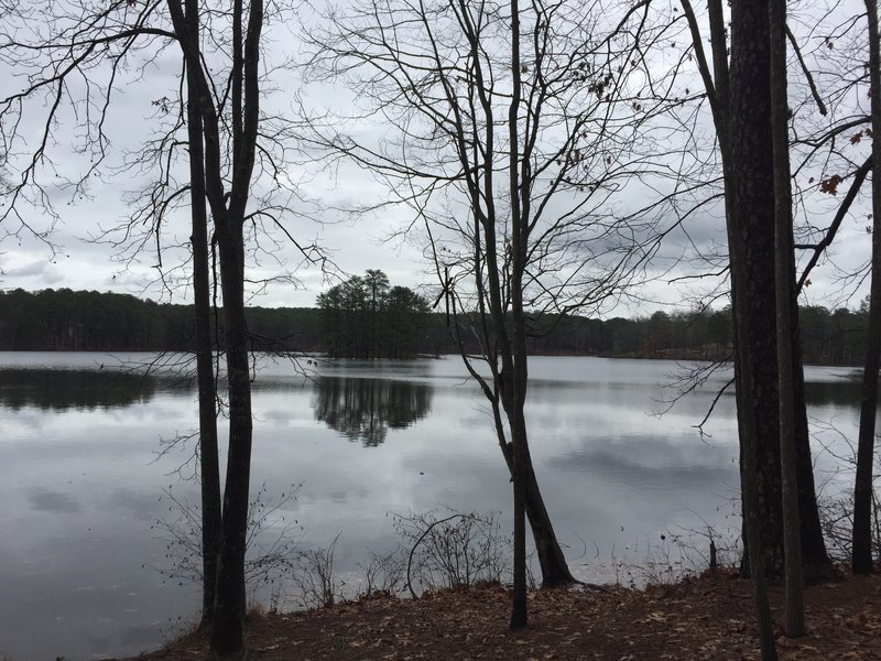 Just after the Grist Mill, you'll have ample opportunities to take in lovely views of the lake.