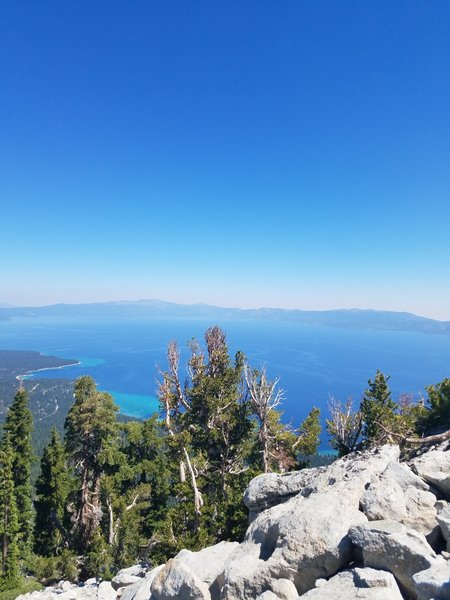 The summit of Rubicon Peak offers phenomenal views out over Lake Tahoe!