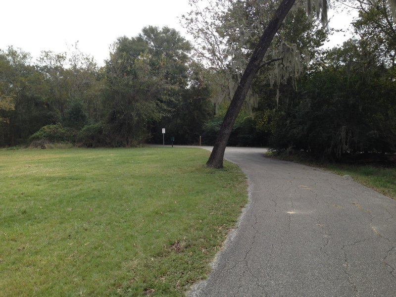 Look for this entrance to Cullen Park Bike and Hike Trail from the old cemetery.