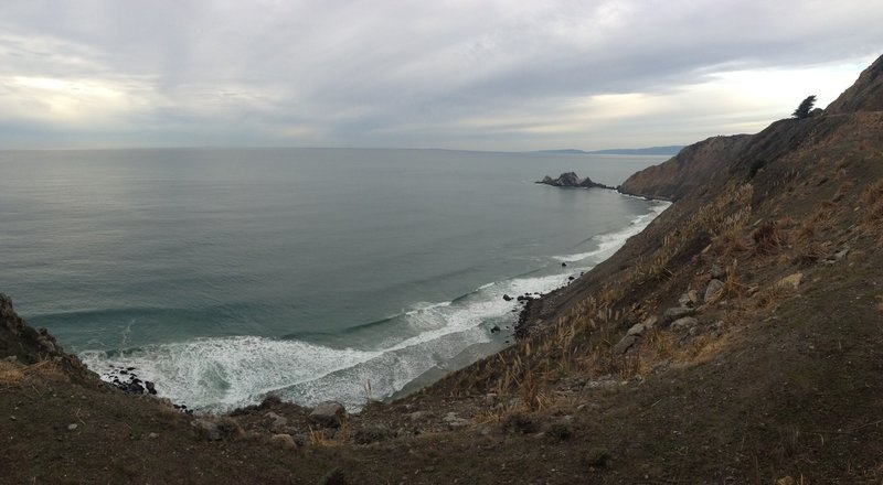 Enjoy the sounds of the surf and sweeping views from the Devil's Slide Trail.