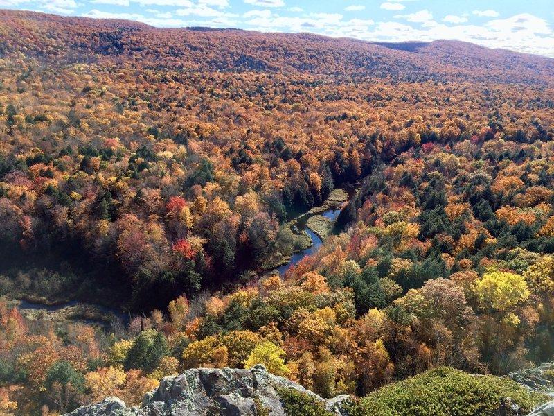 The Big Carp River comes alive in the fall.