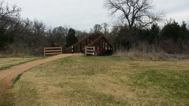 Enjoy this well-constructed bridge over Beck Creek.