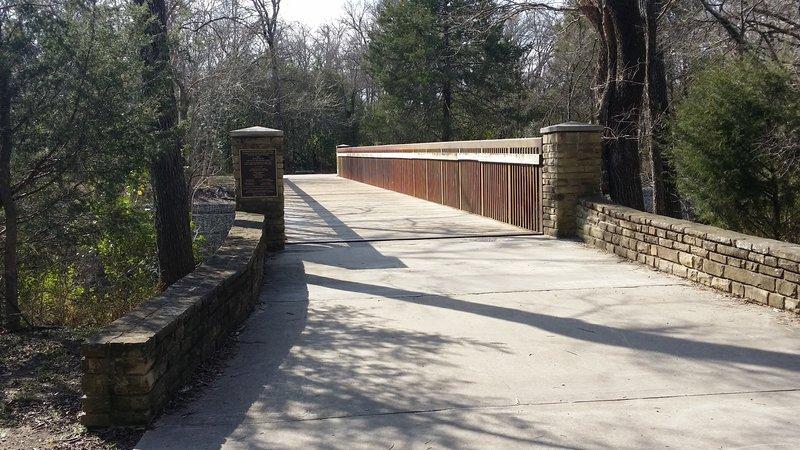 Spring Creek Nature Area touts beautiful bridges.