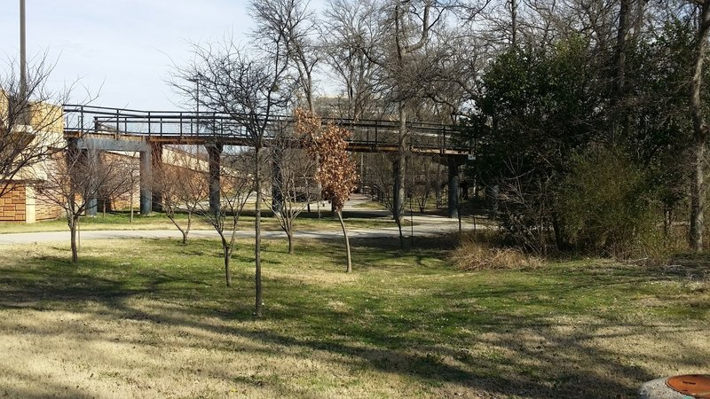 This ramp connects the path to Routh Creek Parkway.