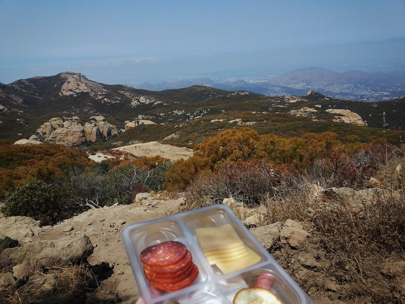 Take in the awesome lunchtime views atop Sandstone Peak.
