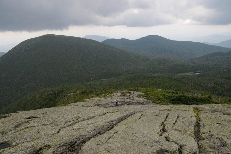 The final rock-slab section of Mount Marcy leads to awesome views from the summit!