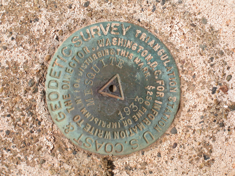 This USGS marker in Del Mar Mesa Preserve was placed in 1933.
