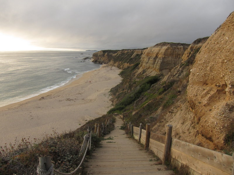 Enjoy the sweet view from the stairs down to Cowell Ranch Beach.