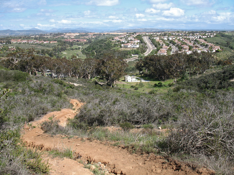 Enjoy decent views of the Katz property and Carmel Country Road along the trail.