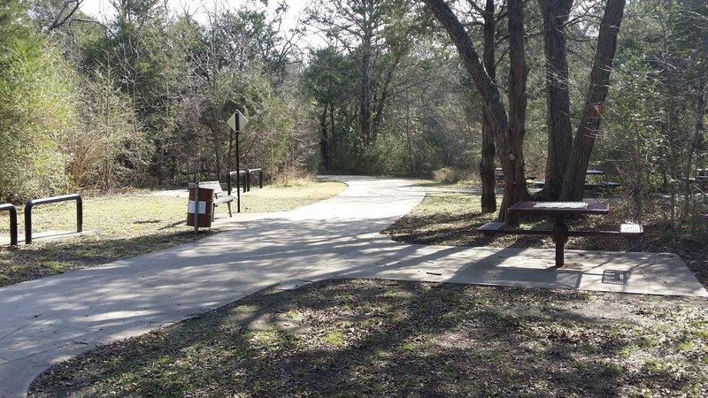 Enjoy plentiful picnic areas in Spring Creek Nature Area.