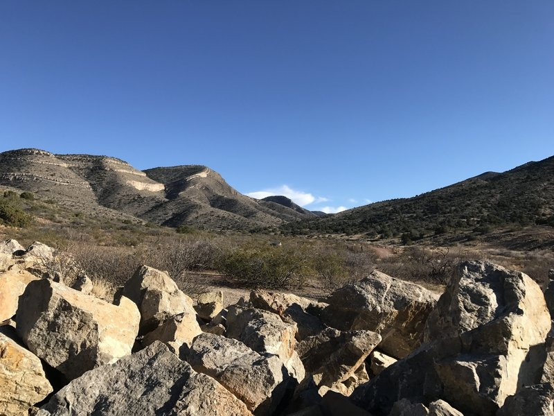 Just northwest of the trailhead, enjoy this view looking into the canyon.