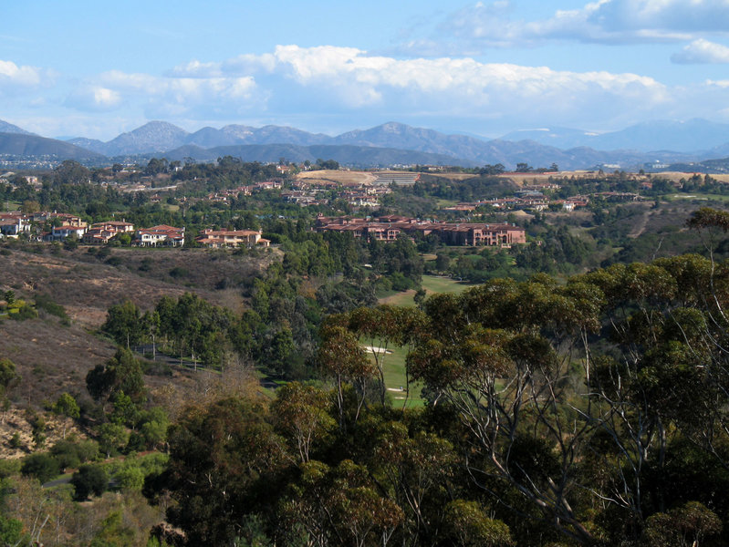 Grand Del Mar Resort is beautifully framed by mountains.