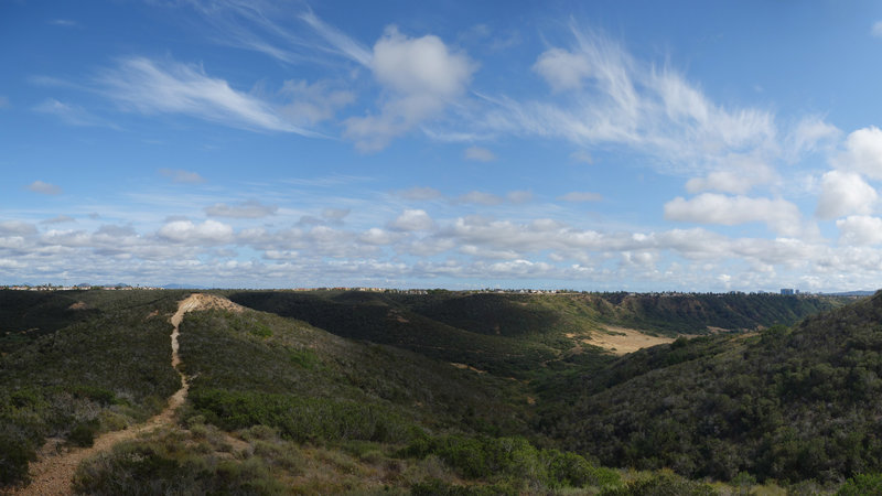 Enjoy this 120-degree panorama of Peñasquitos Canyon at the end of Shaw Valley Trail.