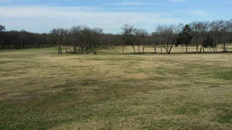 In Breckinridge Park, enjoy huge, open fields with plenty of shade trees.