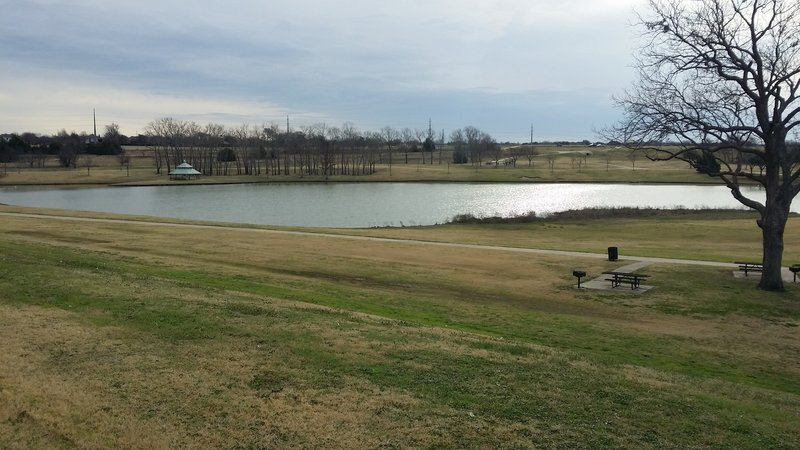 Enjoy a small lake at Breckinridge Park.