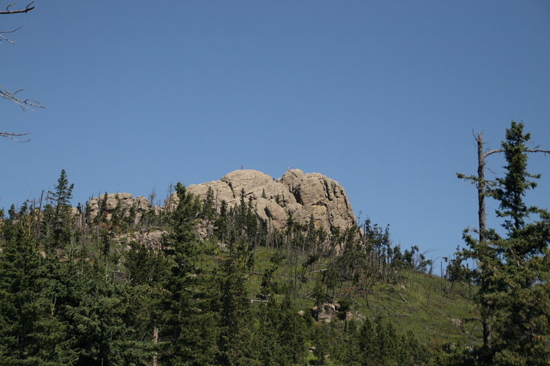 Little Devils Tower stands prominently on the hill above along the Harney Peak Loop.