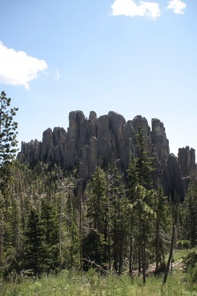 Along the trail, be sure to look up and check out the fantastic rock formations.